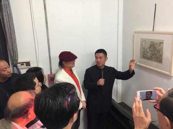 付爱民补绘《西游记——寻访取经人》原创作品在纽约举办