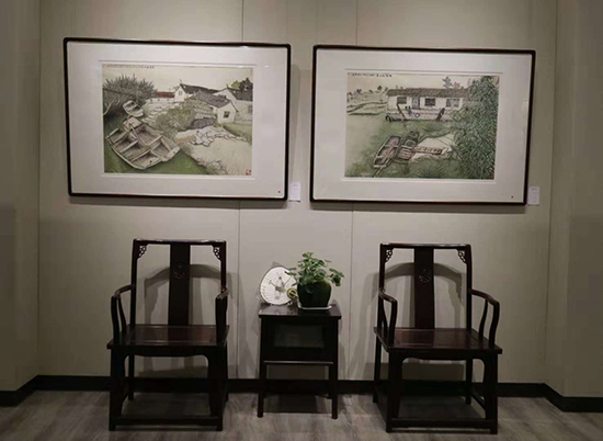 巴秋美术馆开馆暨作品展在家乡泰州举行